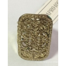 New Big Lace Ring with Metal
