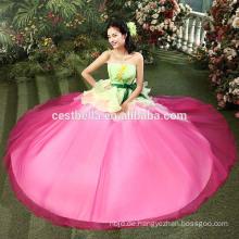 Hochwertiges 100% Perlen modernes Abendkleid Kleid Pfirsich rosa Abendkleid Quinceanera Kleider Ballkleid