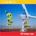 Selbststeigender Kran für die Wartung von Windkraftanlagen