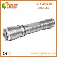 Factory Bulk Sale 3.7V 18650 Battery powered 3 mode Tactical 5W Rechargeable Cree Super Bright Flashlight