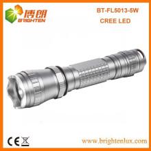 Venda a granel de fábrica 3.7V 18650 Bateria alimentado por 3 modo tático de alumínio 5w Cree XPG recarregável levou lanterna tocha