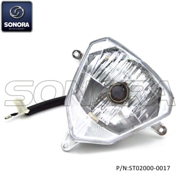 QINGQI QM125GY-2B Head Light Assy (P / N: ST02000-0017) Κορυφαία ποιότητα