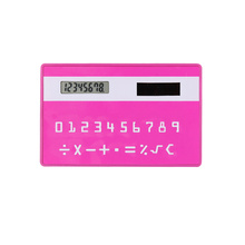 Credit Card Shape Mini Slim Calculator with Solar Power