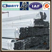 Tuyau en acier galvanisé carré