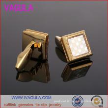 VAGULA qualidade ouro casamento homens manga da camisa fica Gemelos botões de punho (L51923)