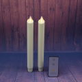 set of 2 15 Inch Moving Flame Taper Candle for Decoration