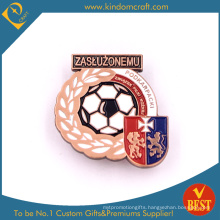 Custom High Quality Baking Finished Iron Pin Badge for Soccer Competition