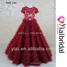 RSW346 rotes Ballkleid-Hochzeits-Kleid