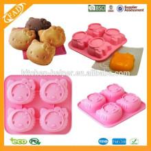 Backen Gebrauch und China-regionale Eigenschaft Kuchen-Silikon-Form