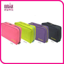 Multi bolsillos portátiles cosméticos bolsa de maquillaje organizador de viajes de almacenamiento de equipaje caso bolsa de ropa interior