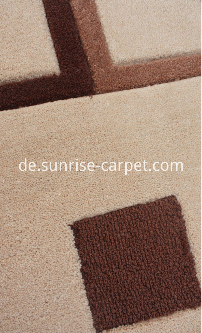 Hand Tufted Carpet Cut Pile and Loop Design