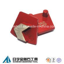 Hormigón diamantes para piso rectificado segmentos de flecha para Werkmaster