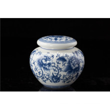 Peony cerâmica vasilha redonda estanque Canister