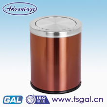 Stainless steel trash can with lid