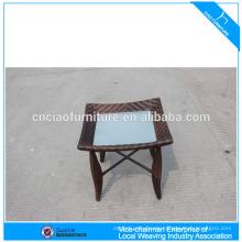 Kleine Rattan Möbel Beistelltisch im Freien Ende Tabellen