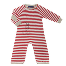 long sleeves stripe baby cashmere jumpsuit for children