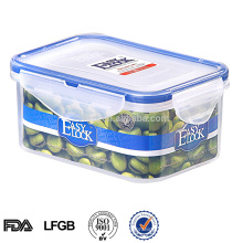 Bpa Free Rectangular plastic container with lid,plastic biscuit packaging