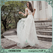 2017 Champagne lace see-throgh vestido de casamento imge andar comprimento vestido de noiva sexy para noiva
