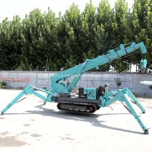 Grue mobile 5 tonnes Mini grue sur chenilles araignée CE