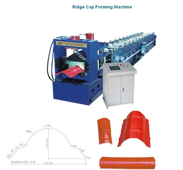 High Quality Ridge Cap Cold Roll Forming Machine