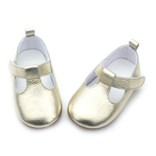 New Style Fashion Gold Fancy Baby Girls T-Bar Shoes