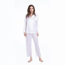 19Momme Silk Pajama Set Full Length Ladies