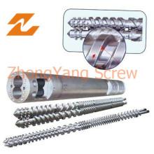 Vis jumelle parallèle et baril pour l'extrudeuse de câbles et de fils