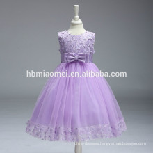 2017 high quality children flower girl dress one pcs western party wear 2 year old girl dress with factory price