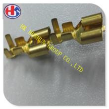 Fournir un connecteur femelle à laiton en laiton série 250 avec un placage en étain (HS-FB-002)