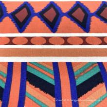 Tissus de vêtement tissés à imprimé Vscose en rayonne colorée
