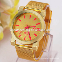 2015 Newest arrival 4 colors unisex gold plated watches watch men