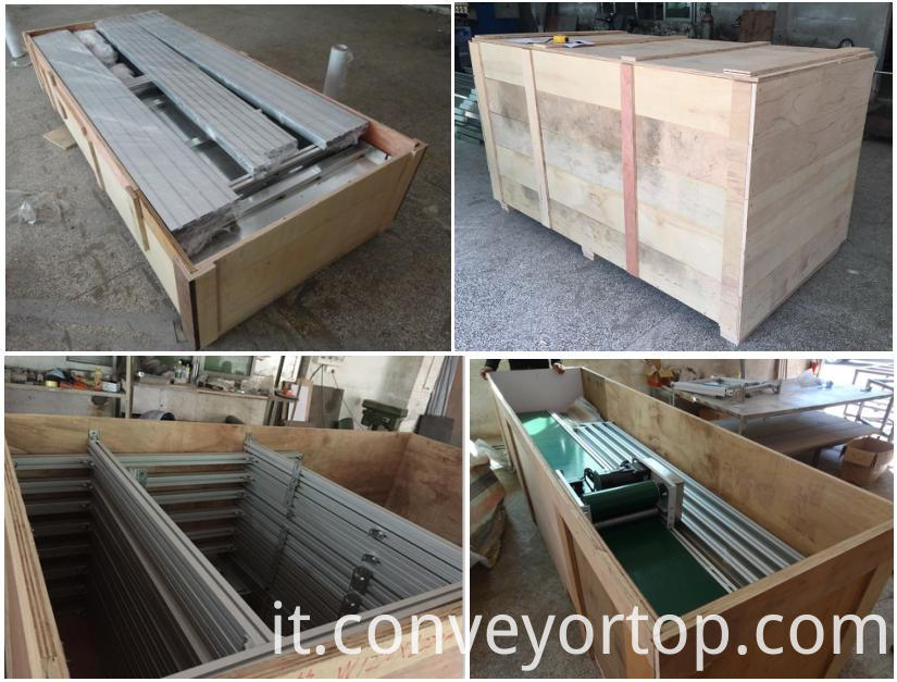 belt conveyor wooden package