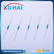 Resistor de alto voltaje y agujero de paso Resistor de película metálica de 1 / 2W