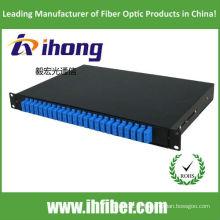 24 portas duplex SC painel de fibra óptica de patch 19 polegadas 1U