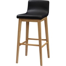 Custom Holz High Bar Hocker mit PU Leder Sitzplätze