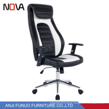 Durable High back lifting executive office chair with leather armrest