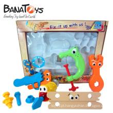 Diversão e educação plástico bebê brinquedos conjunto de ferramentas