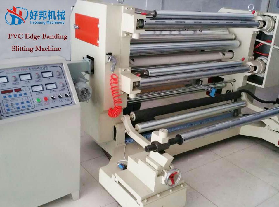 PVC edge banding slitting machine