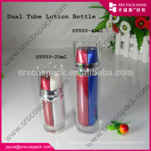 Wholesale Lotion Bottle For Cosmetic , 20ml 40ml Dual Tube Lotion Bottle And Special Round 20 ml Bottle Paint Plastic