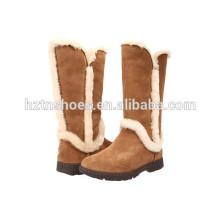 Botas de inverno botas de borracha de segurança de senhoras com pele fora