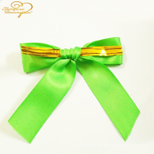 Webbing Ribbon Gift Bow Metallic Twist Tie decoration accessories customized supplier