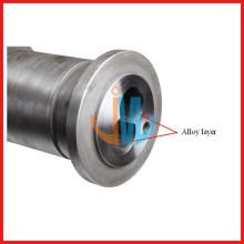 38CrMoAIA bimetallic twin screw extruder screw design for PVC and plastic machine