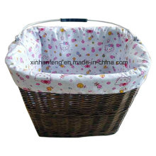 Willow Bicycle Basket with Handle for Bike (HBK-117)