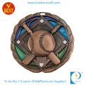 Factory Price China Custom Antique Brass 3D Baseball Medal for Souvenir Gift