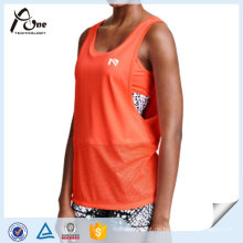 Wholesale Active Wear Design Laufunterhemd mit einem Sport-BH