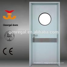 Steel hospital seamless room door