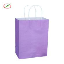bolsa de regalo de papel kraft al por mayor con asa