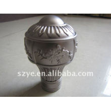 Modern design plastic curtain rod finials