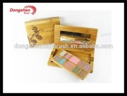 cosmetic mineral bamboo mirror box free samples,makeup cosmetic brush,make up container jar