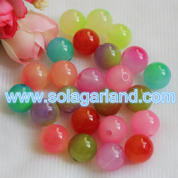 12-30MM Acrylic Round Two Tone Beads Plastic Fishing Beads
